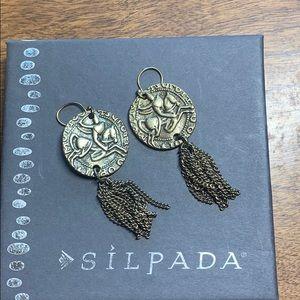 Retired Silpada K&R gold tone earrings